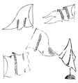 v4Flags sketch Pencil drawing by hand vector image vector image