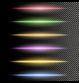 multicolor glowing particles of light vector image
