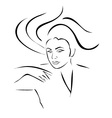 Face of a beautiful young woman vector image