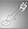 jumping businessman shooting arrow web vector image