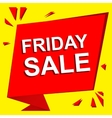 Sale poster with FRIDAY SALE text Advertising vector image