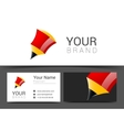 abstract creative business cards red set vector image
