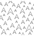 abstract seamless pattern of arrows vector image vector image