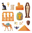 ancient egypt set egyptian traditional cultural vector image