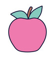 apple fresh fruit food cartoon icon style design vector image