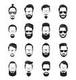 bearded face black men beards handsome model vector image vector image