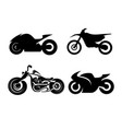 black motorcycles vector image vector image