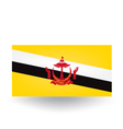 Brunei Flag vector image vector image