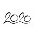 calligraphy for 2020 new year rat vector image vector image