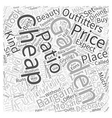 cheap garden furniture Word Cloud Concept vector image vector image