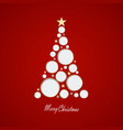 christmas card with tree mad vector image vector image