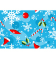Christmas winter style elements background vector image vector image