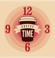 coffee time typographical vintage style poster vector image