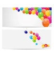 Color glossy balloons card background vector image vector image