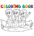 coloring book water sport theme 3 vector image