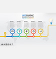 company timeline infographic template design with vector image vector image