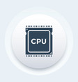 cpu processor icon pictogram vector image vector image