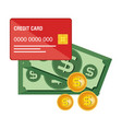 credit card electronic commerce vector image vector image