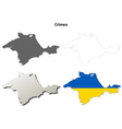 crimea outline map set - ukrainian version vector image vector image