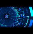 cyber security background vector image vector image