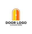 door logo design vector image