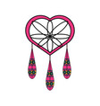 dreamcatcher in hippie style icon vector image vector image
