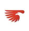 eagle head with wing vector image vector image