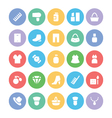 Fashion Colored Icons 4 vector image vector image