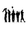 fathers day set family father with son silhouette vector image vector image