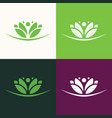 flower green logo vector image