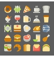 Food and drink flat icons vector image vector image