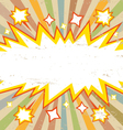 Frame Boom comic book explosion vector image vector image