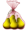 Fresh pears in bag vector image vector image