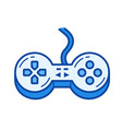 Game controller line icon