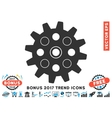 Gearwheel Flat Icon With 2017 Bonus Trend vector image vector image
