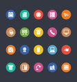 Glyphs Colored Icons 3 vector image vector image