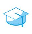 graduation cap icon vector image vector image