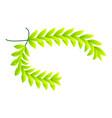 green laurel icon isometric style vector image