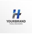 h letter logo design template modern letter logo vector image vector image