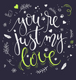 hand drawn inspiration lettering quote - you are vector image