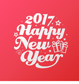 Happy New Year white lettering circle Modern vector image vector image