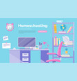 homeschooling inflat cartoon vector image