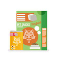 icon of cat food set icon design for pet shop vector image vector image