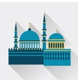 Islamic greeting card with mosque in flat design vector image vector image