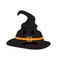 isolated witch hat vector image