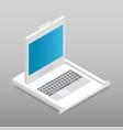 kvm switch rackmount isometric detailed icon vector image