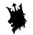 lion king in sketch presentation vector image vector image