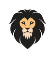 lion logo template design mascot vector image