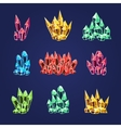 Magic Crystals Icons Textures vector image vector image