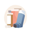 medicine for bronchial asthma abstract concept vector image vector image